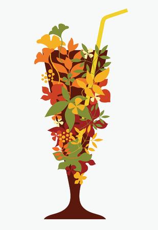 autumn drink Vector