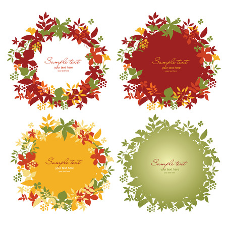 Set of floral frame illustration Vector