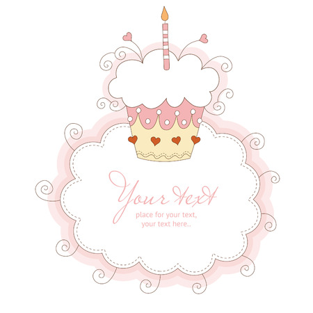 first birthday: First Birthday card  Illustration