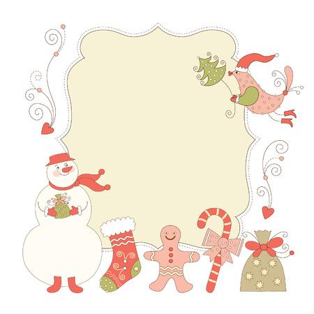 canes: biglietto di auguri di Natale