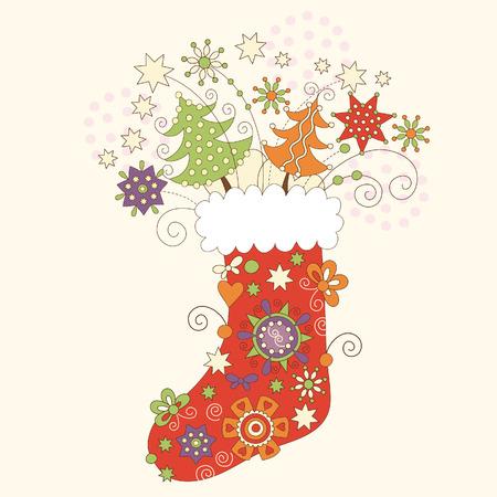 childish: Рождественский носок Иллюстрация