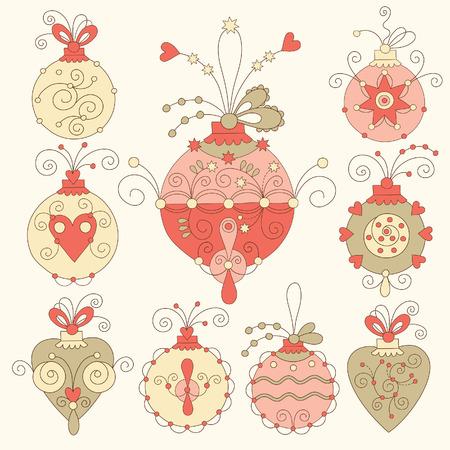 christmas embellishments: set of chritmas balls, chritmas decorations