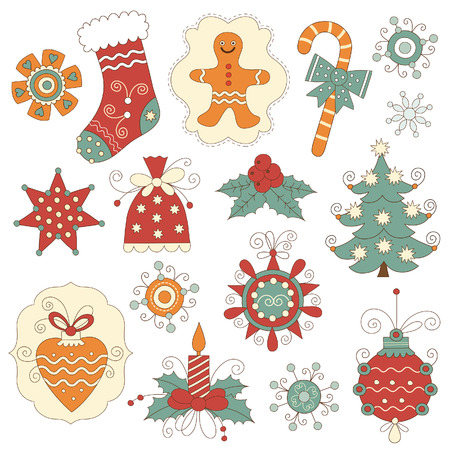 jingle bell: Set of Christmas and New Year s elements