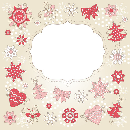 carte de voeux noel: Carte de v?ux de No�l  Illustration