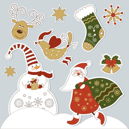 christmas and new years elements Vector