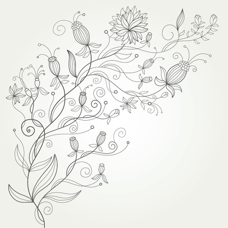 ornamental design: flourish background