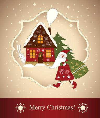 year of rabbit: christmas card