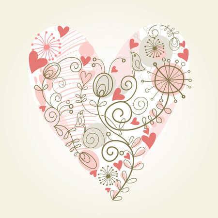 floral heart Stock Vector - 8772005