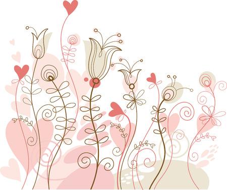 wishes romantic: Floral illustration Illustration