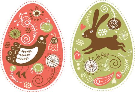 chick: Huevos de Pascua Vectores
