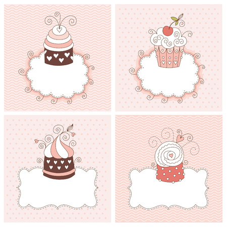 set of greeting cards Stock Vector - 8922964