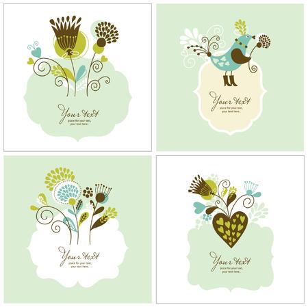 conjunto de tarjetas de felicitación