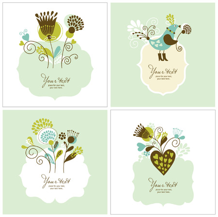 set of greeting cards Stock Vector - 8922958