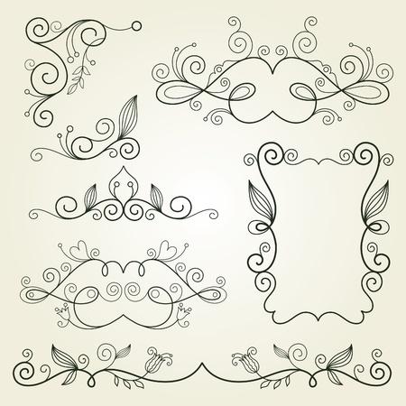 page divider: calligraphic design elements  Illustration