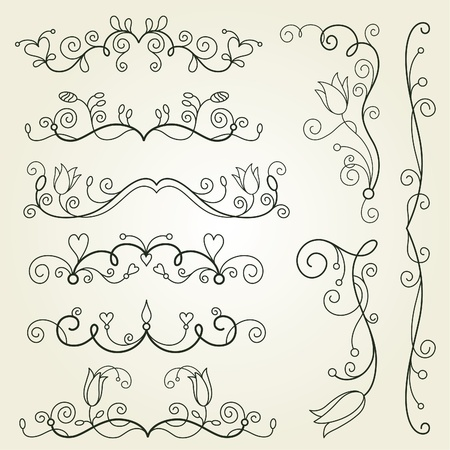 calligraphic design elements Stock Vector - 9264543