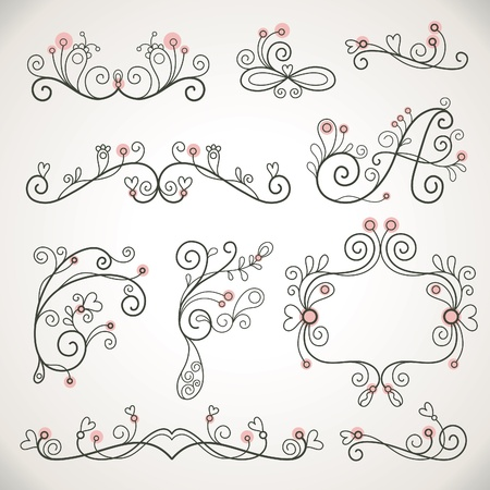 calligraphic design elements  Stock Vector - 9264547