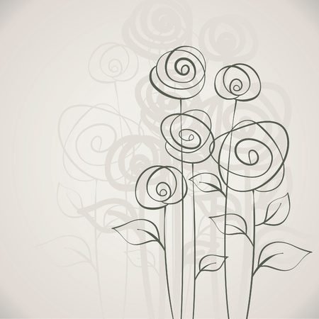 Romantic Flower Background, greeting card