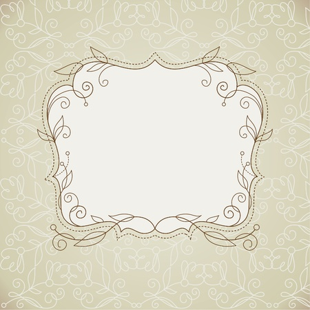Vector background, frame with floral elements Vector
