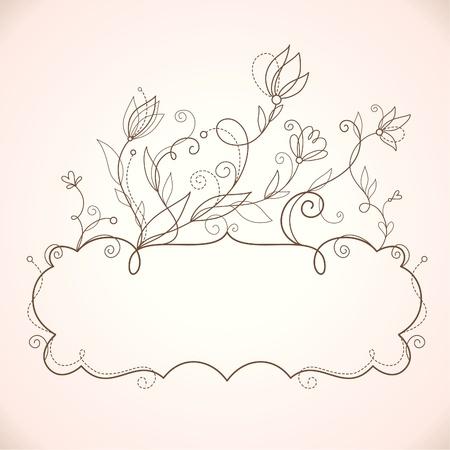 marcos decorados: Marco de elegancia con elementos florales