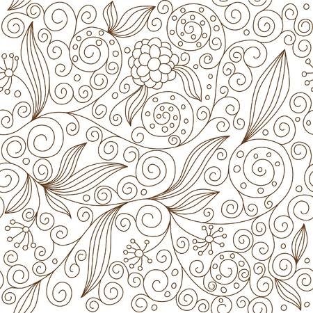 baroque pattern: seamless floral pattern