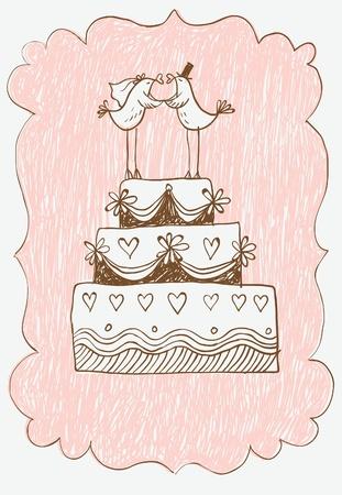 wedding cake Stock Vector - 9892277