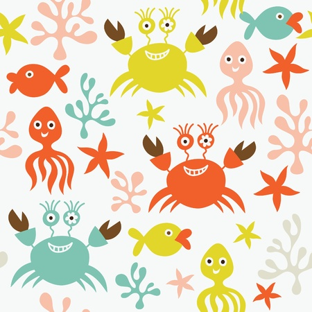 seamless pattern with marine life Stock Vector - 9892270