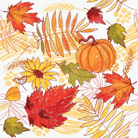 seamless autumn background  Stock Vector - 9892276