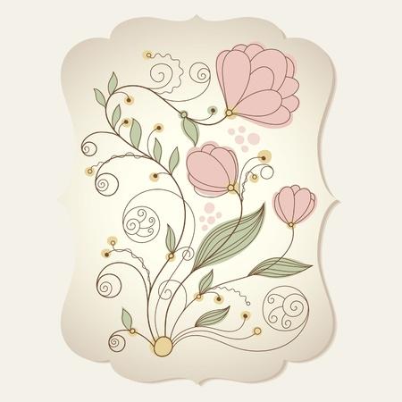 floral illustration  Stock Vector - 10089428