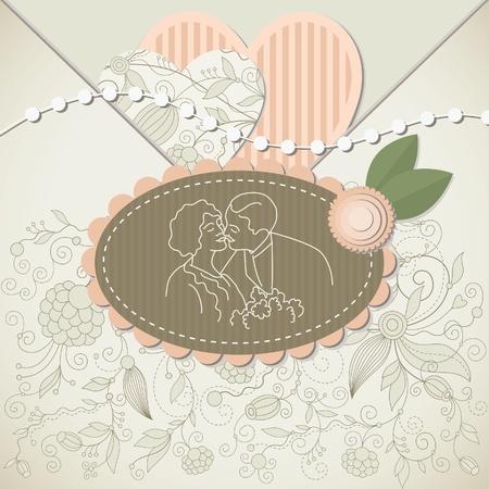 Wedding card ,scrapbook elements  Vector