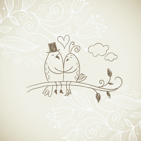 happy couple: Romantic illustration Illustration
