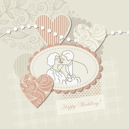 Wedding card ,scrapbook elements  Vector
