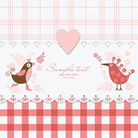 scrapbook cover: Greeting card  Illustration