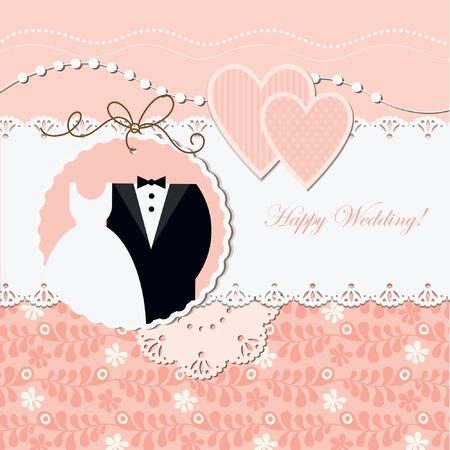Wedding card Stock Vector - 10346804