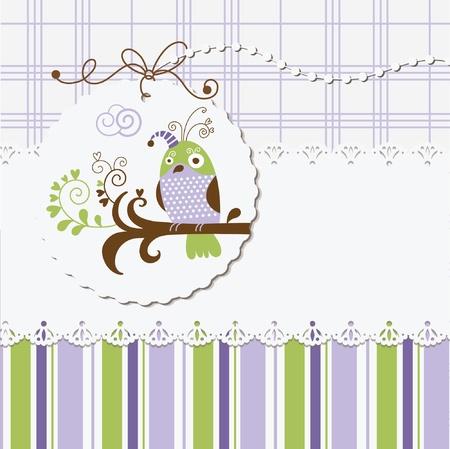 greeting card, digital scrapbook Stock Vector - 10346786