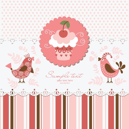 Greeting card Stock Vector - 10346790