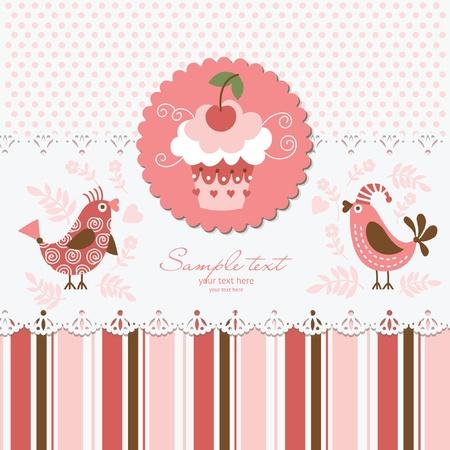 cake paper: Greeting card  Illustration
