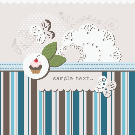 cake paper: scrapbook elements with place for your text