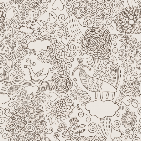 whimsical pattern: hand draw doodles