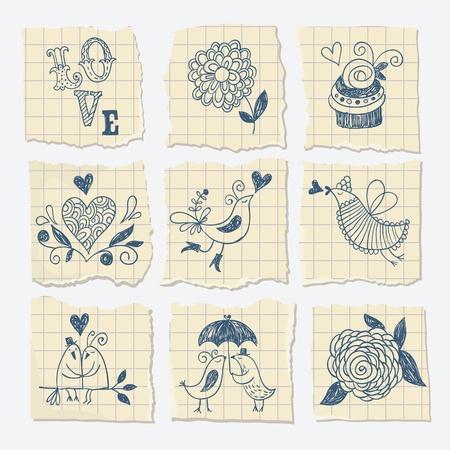 ecartel�: �l�ments de main-draw sur le morceau de papier