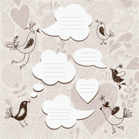whimsy: speech bubbles set  Illustration