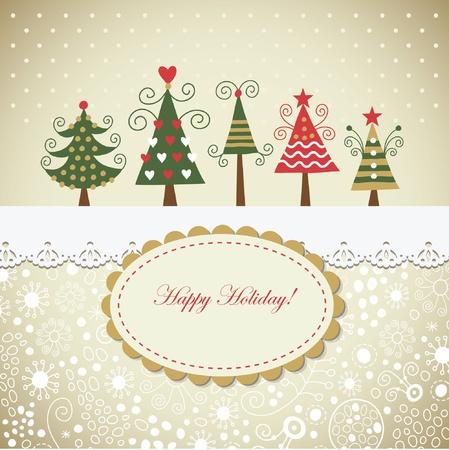 marcos decorados: Tarjeta de Navidad