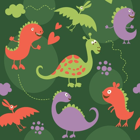 seamless pattern with dinosaurs Stock Vector - 10854363