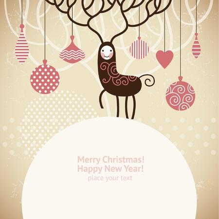 Christmas deer  Stock Vector - 10854372