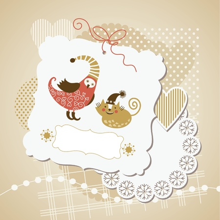 scrap booking: scrap-booking elements  Illustration