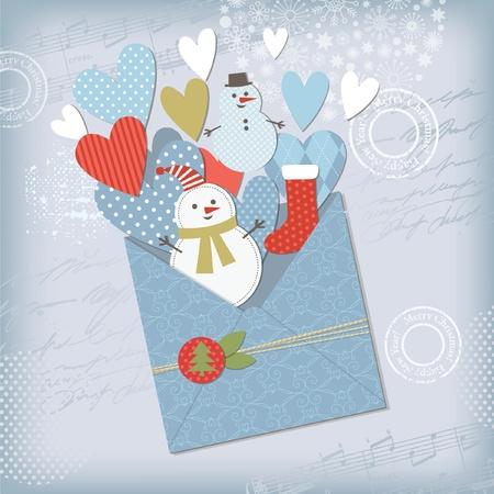 scraps: Seasons Greetings Illustration