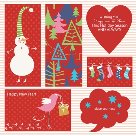 Set of Christmas elements Stock Vector - 11213548