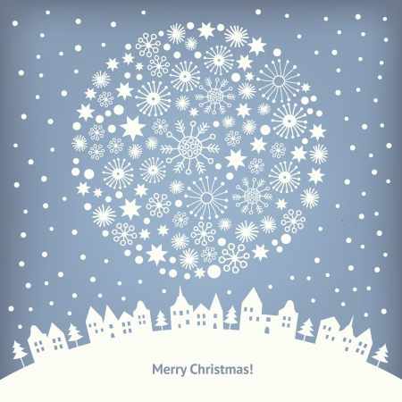 illustrated: Greeting Christmas card