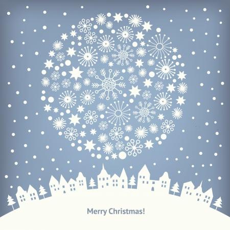 illustrierte: Gru� Weihnachtskarte Illustration