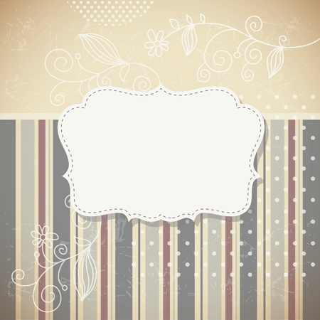 Vintage frame retro background Vector