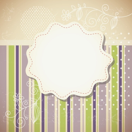 striped background and frame for your text Vector